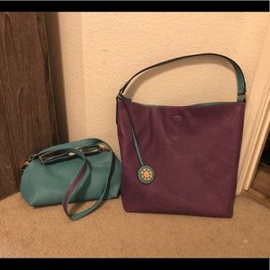 Reversible Hobo Bag with Inner Pouch